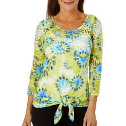 Hearts of Palm Womens In The Limelight Tie Front Top