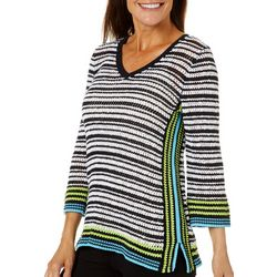 Hearts of Palm Womens In The Limelight Pull Over Sweater