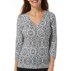 Hearts of Palm Womens Rue De La Ruby Geometric Top
