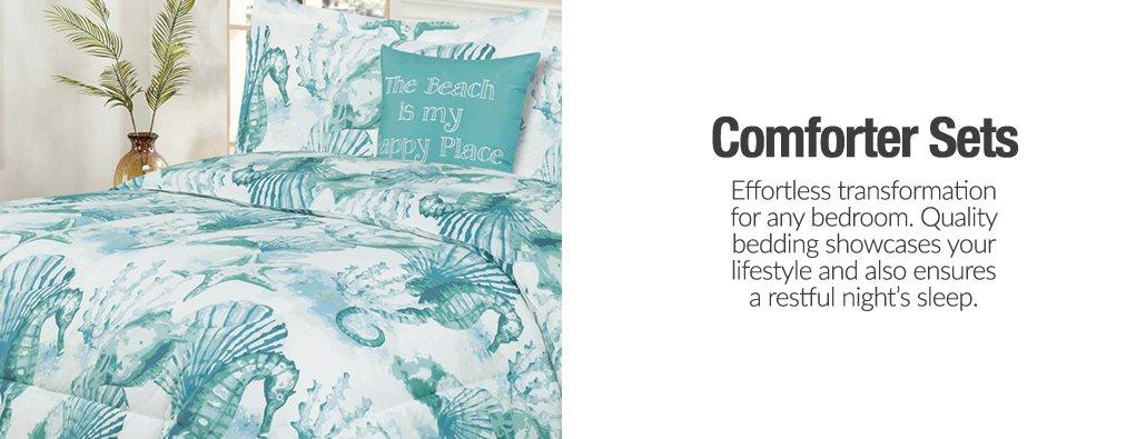 Comforter Sets - Effortless transformation for any bedroom. Quality bedding showcases your lifestyle and also ensures a restful night's sleep.