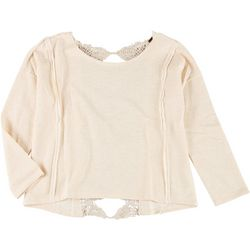 Poof Juniors Thermal Lace Back Top