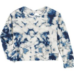 Poof Juniors Long Sleeve Thermal Tie Dye Top