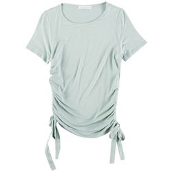 Wasabi & Mint Juniors Short Sleeve Top With Scrunched Side