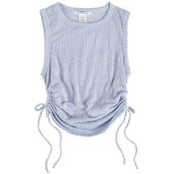 Caution To The Wind Juniors Ribbed Crew Neck Crop Top