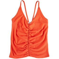 Caution To The Wind Juniors Solid Sleeveless Tank Top