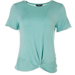 Leighton Juniors Solid Twist Front Top