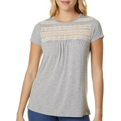 Jolt Juniors Lace Panels Knit Top