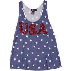 Juniors Americana USA Sequin Top
