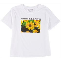 Pretty Rebel Juniors Sunflower Kindness Graphic T-Shirt