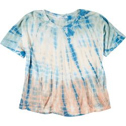 Dreamsicle Juniors Tie Dye Cropped T-Shirt