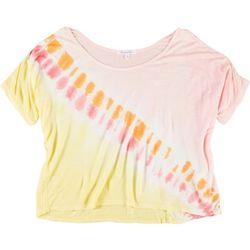 Dreamsicle Juniors Tie Dye Oversized T-Shirt