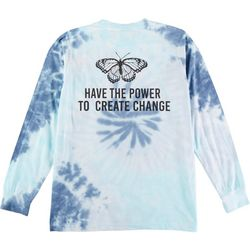 Dreamsicle Juniors Tie Dye Pocketed Long Sleeve Top
