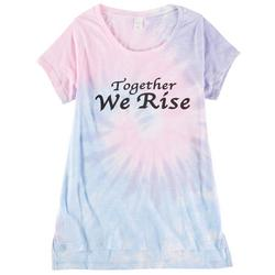 Dreamsicle Juniors Together We Rise Tye Dye Top