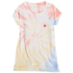 Dreamsicle Juniors Good Vibes Only Tie Dye Graphic Tee