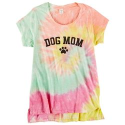 Dreamsicle Juniors Dog Mom Tie Dye Graphic Tee