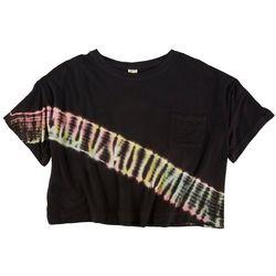 EXIST Juniors Tye Dye Short Sleeve Top With A Pocket