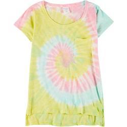 Juniors Tie Dye Pocket T-Shirt