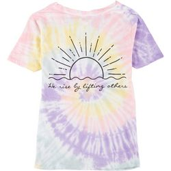 Juniors Tie Dye We Rise By Lifting Others T-Shirt