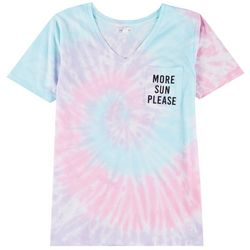 Exist Juniors More Sun Please Tie Dye T-Shirt