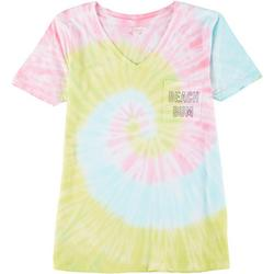 Juniors Beach Bum Tie Dye T-Shirt