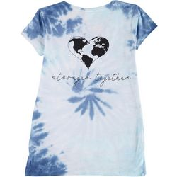 Exist Juniors Tie Dye Stronger Together T-Shirt