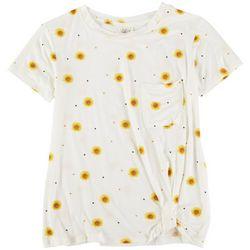 SELF ESTEEM Juniors Daisy Printed Garden Top