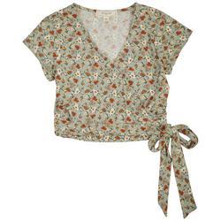 Juniors Floral Crop Top