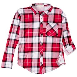 No Comment Juniors Plaid Shirt
