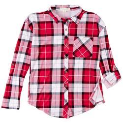 Juniors Plaid Shirt