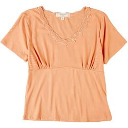 No Comment Juniors Baby Doll Ribbed Top