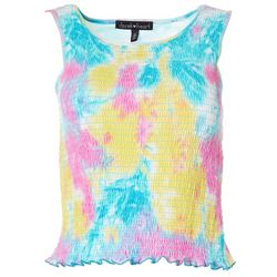 Juniors Watercolor Sleeveless Top