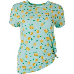 Cold Crush Juniors Lemon Print Tee