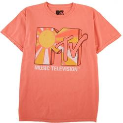 Juniors Music Televison T-Shirt With A Sun Print