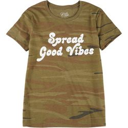 Gold Rush Juniors Spread Good Vibes Graphic T-Shirt