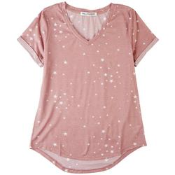 Juniors Once Upon A Star V-Neck T-Shirt