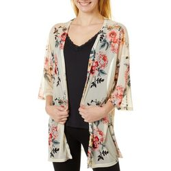 Almost Famous Juniors Floral Kimono & Tank Top