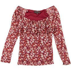 Almost Famous Juniors Off the Shoulder Floral Top