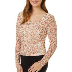 Crave Fame Juniors Floral Square Neck Top