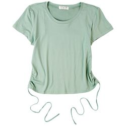 Full Circle Trends Juniors Back Cut Out Short Sleeve Top