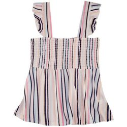 Full Circle Trends Juniors Baby Doll Striped Top