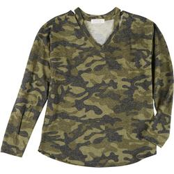 Jolie & Joy Juniors Camouflage Sweater