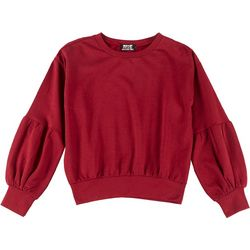 Full Circle Trends Juniors Puff Sleeve Sweatshirt
