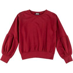 Juniors Puff Sleeve Sweatshirt