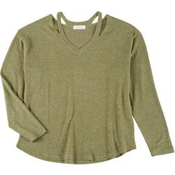 Jolie & Joy Juniors Solid Cutout Sweater