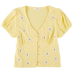 Full Circle Juniors Floral Babydoll Short Sleeve Top