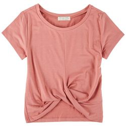 Full Circle Trends Juniors Twisted Front Top