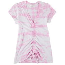 Full Circle Trends Juniors Scrunched Tie-Dye Top