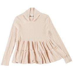 Coco & Jaimeson Juniors Tiered Ruffle Turtleneck Top