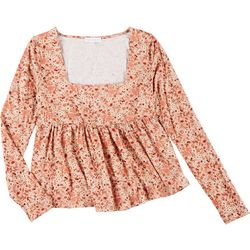 CoCo & Jaimeson Juniors Floral Babydoll Blouse
