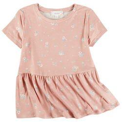 Pink Rose Juniors Floral Babydoll Top